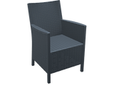 California Tub Chair - Without Cushion - Anthracite - Front