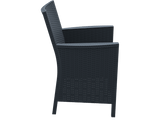 California Tub Chair - With Cushion - Anthracite - Side