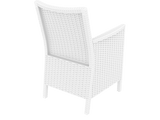 California Tub Chair - With Cushion - White - Back