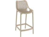 Air 65 Outdoor Bar Stools - Dove Grey - Front