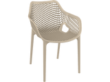 Air XL Armchairs  - Outdoor Chairs - Front - Taupe