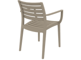 Artemis Armchair - Back - Taupe
