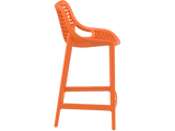 Air 65 Outdoor Bar Stools - Orange - Side