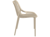 Air Chair - Outdoor Chairs - Side - Taupe