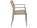 Artemis Armchair - Side - Taupe