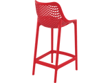 Air 65 Outdoor Bar Stools - Red - Back