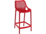 Air 65 Outdoor Bar Stools - Red - Front