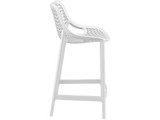 Air 65 Outdoor Bar Stools - White - Side