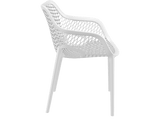 Air XL Armchairs  - Outdoor Chairs - Side - White