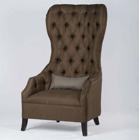Brown Throne Armchair | (Selby Arm Chair) | Accent Armchair - 40958