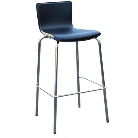 Avoca PVC Black Bar Stools - Front - Commercial Bar Stools