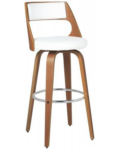 Beech Bar Chair - Swivel Bar Stools - White Bar Stools - JY1702W Bar Stool Bar The Stool