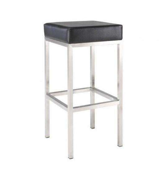 Block Stool - Black Bar Stools - block Bar Stool Bar The Stool