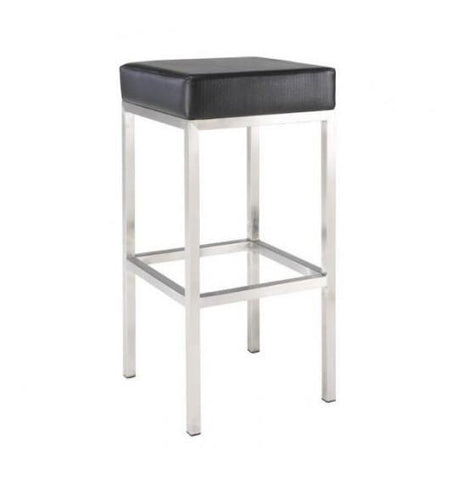 Block Stool - Black Bar Stools