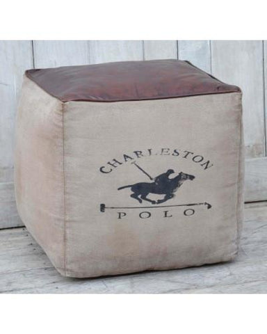 Charleston Polo Square Ottoman | Cool Ottomans M5996 Ottoman Bar The Stool
