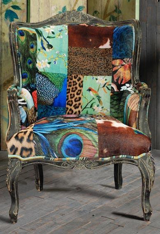 European Designed Patterned Armchair - Accent Chairs