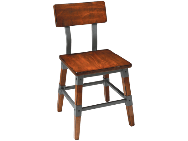Genoa Chair - Timber Seat - European Beech Wood Chair Bar The Stool