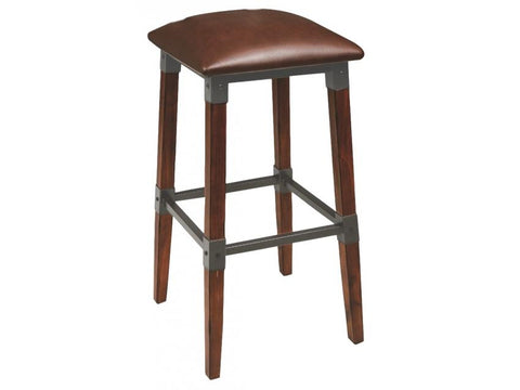 Genoa Bar Stool - No Back - Vinyl Bar Stool Bar The Stool