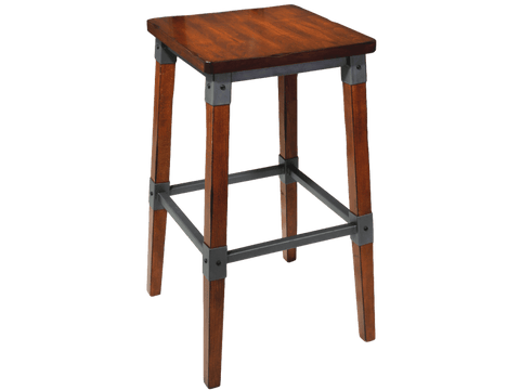 Genoa Bar Stool - No Back - Timber Seat Bar Stool Bar The Stool