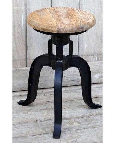Halo Cast Iron Wind Up Stool | Unique Bar Stools - M7521 Industrial Bar Stool Bar The Stool