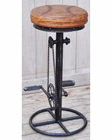 Industrial Bicycle Bar Stool - Unique Bar Stools - M3292 Industrial Bar Stool Bar The Stool