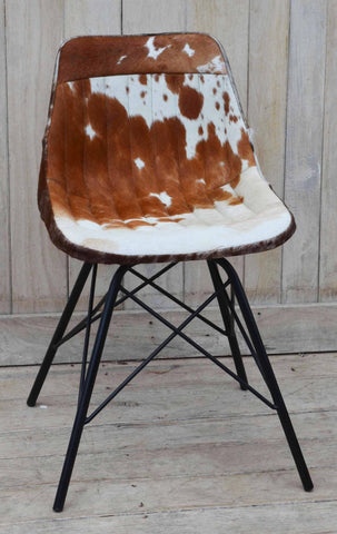 EAMES STYLE COWHIDE CHAIR  - M10148