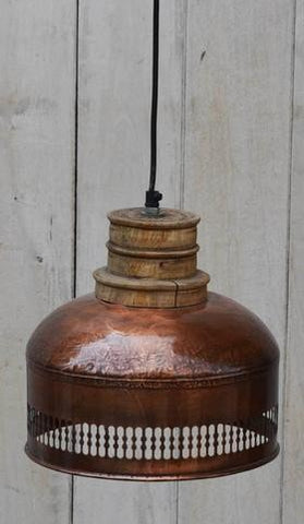 Copper Cut-Out & Wood Industrial Lighting