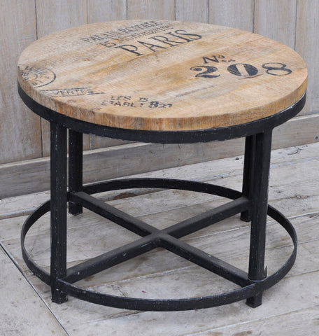 No 208 Hardwood Round Coffee Table  - M1304 Furniture Bar The Stool