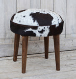 Short Cowhide Stool - M7807 Low Stools Bar The Stool