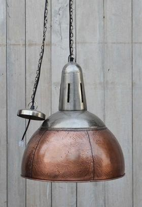 Industrial Copper Lampshade - Unique Lighting - M9035 Lighting Bar The Stool