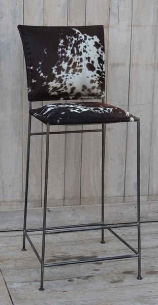 Dark Cowhide Unique Bar Stools  - M9072 Bar Stool Bar The Stool