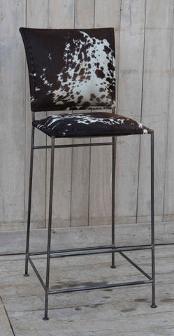 Dark Cowhide Unique Bar Stools