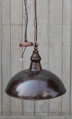 Industrial Brass Lampshade - Industrial Lighting