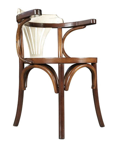 Navy Chair - Honey/Ivory | Wooden Dining Chairs | Accent Chairs | MF046 Chairs Bar The Stool