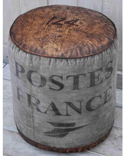 Poste France Round Ottoman - M1804 - Bar The Stool