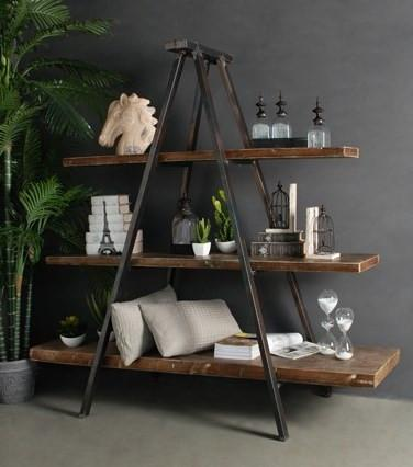 unique industrial furniture. Industrial Tripod Bookcase | Book Shelving Unique Furniture \u2013 Bar The Stool