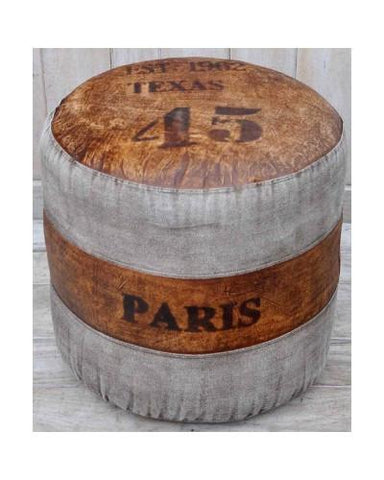Texas Paris 45 Round Ottoman - M1782 - Bar The Stool