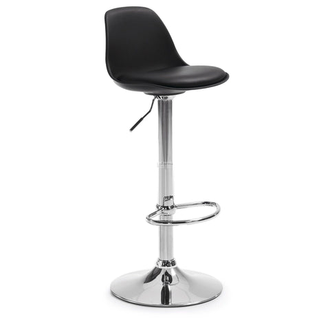 Charleston Gas Lift Bar Stools - Black Bar Stools - C061U01 Adjustable Height Bar The Stool