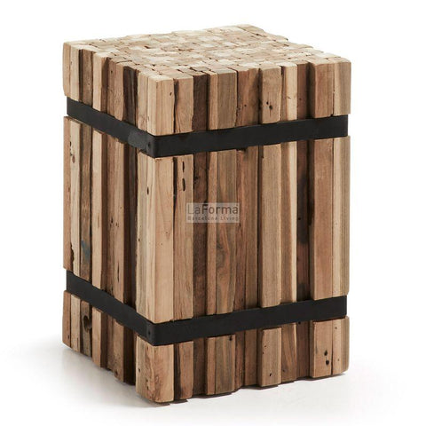 Matchstick Stump - C504M46 - Rustic Side Table Side Table Bar The Stool