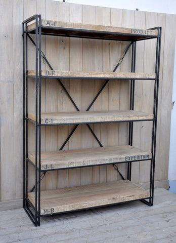 Expedition Industrial Bookcase - Industrial Book Shelving - M137 Furniture Bar The Stool
