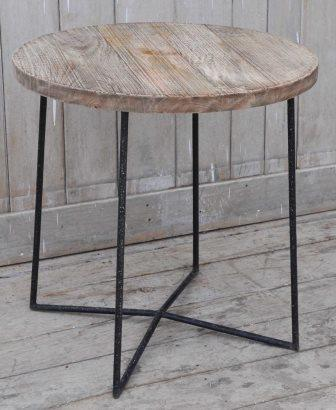 Hardwood Recycled Timber Unique Coffee Table - Rustic Side Table - M2942 Furniture Bar The Stool