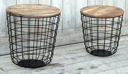 The Canggu - Hardwood Timber Coffee Table - (Set of 2) - M8046 Furniture Bar The Stool
