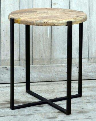 The Uluwatu - Hardwood Coffee Table With Iron Legs - M8079 Furniture Bar The Stool
