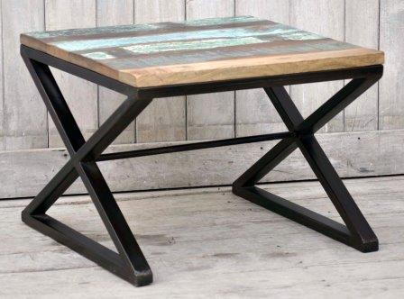 The Madison Geometrical Hardwood Timber Coffee Table - M8169 Furniture Bar The Stool