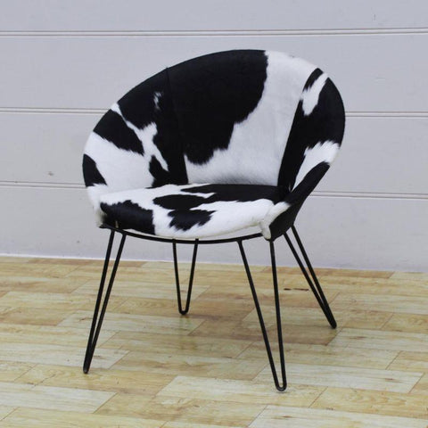 Cowhide Round Seat | M14773 - with Background