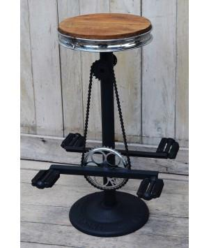 Industrial Bicycle Bar Stool - Double Ended Peddles - M2 - Bar The Stool - 1