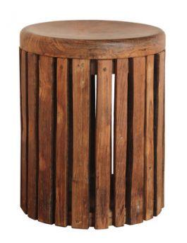 WOODY SLATS STOOL - Side Table