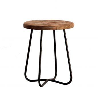 Curve Stool Round | Side Table | Low Stool | Dining Chairs - Black