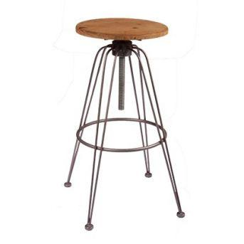 Substation Swivel Bar Stool