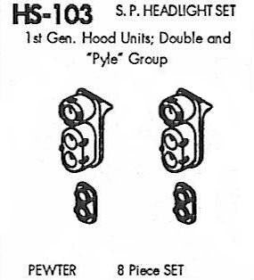"#DW-HS-103 	SP Headlight Set: ""Pyle"" Double End, GP9 1 Set"
